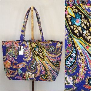 Vera Bradley Iconic Grand Tote Romantic Paisley